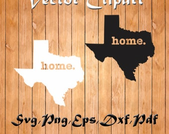 Texas Home Svg, State Svg, Pdf EPS PNG Dxf Vector, Texas Clipart, Monogram Svg