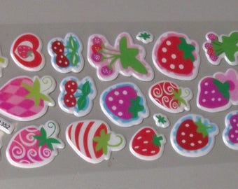 20 fruit Stickers.
