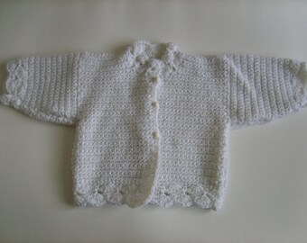 Baby Wool Cardigan glitter 3/6 months
