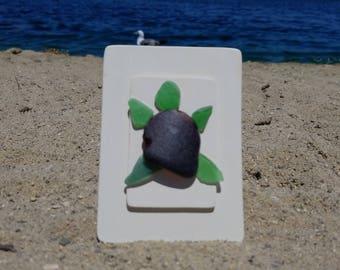 Small Turtle, Sea Glass Art