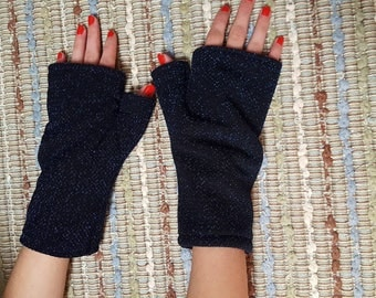Blue Skies and Stars In Your Eyes - Hand Made Fingerless Gloves / Gauntlets / Armaments