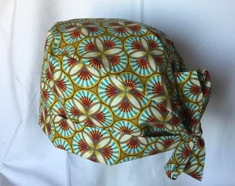 Fabric pattern wax cap