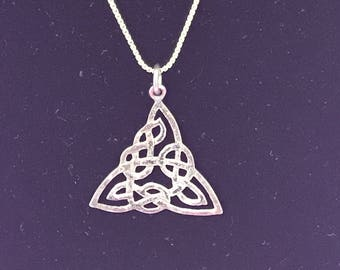 Vintage 925 silver celtic necklace