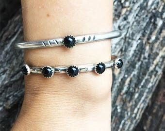 "Black Onyx 5 stone ""Midnight Sun"" Bracelet"