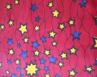 African fabric, wax blue 45 cm x 116 cm