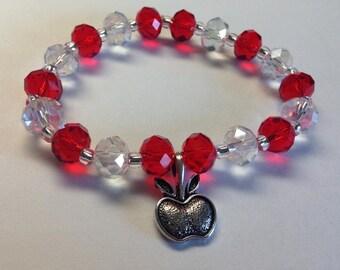 Apple charm elastic bracelet