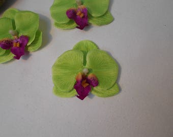 Lime green Orchid artificial 6.50 cm