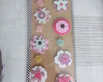 Embellishments of 3D adhesive stickers