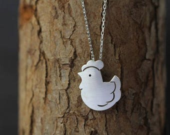 Chicken Pendant Necklace