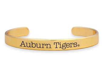 Auburn Tigers Gold Cuff Bracelet