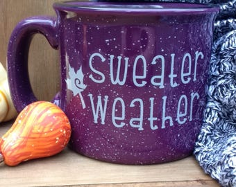 Sweater Weather Campfire Mug - Fall Mug, Autumn Mug, Fall Coffee Mug, Mug, Fall Decor, Coffee Lover Gift, Fall Gift