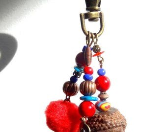 "Nice Buddha bag charm, Keychain red ""Asia"""