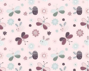 Jersey bee and flower - Elf love pink