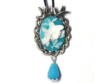 Pendant necklace Vintage Butterfly Aina