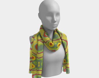 """Beautiful Scarf, Head Scarf, """"Panamanian Eyes, Made to order"""""""