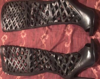 Just Fab Cage High Heel Boots Size 7