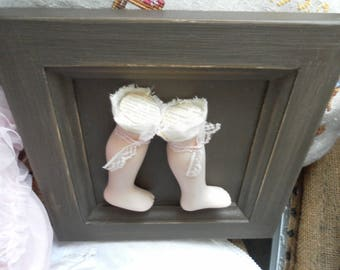 Small distressed frame and creative porcelain LCV