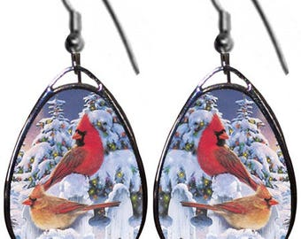 Christmas Birds earrings