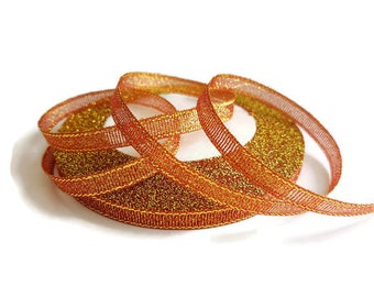 6 mm red glitter Ribbon