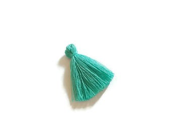 Aqua cotton tassel