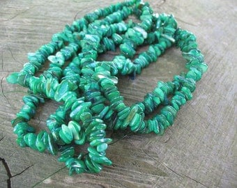 Green Pearl chips beads