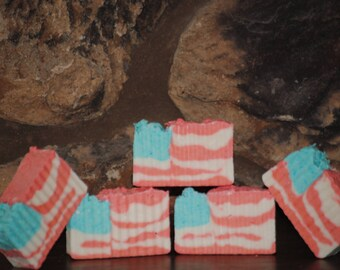 American Pie rustic homemade soap