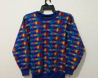 RARE!! Vintage Ken Done Under Down Fullprint Australia Koala Pullover Sweatshirt