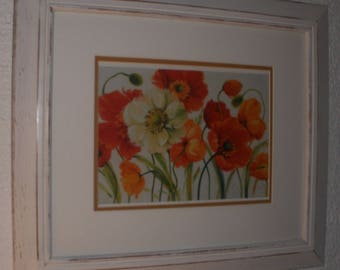 Wooden frame painted, burnished and waxed