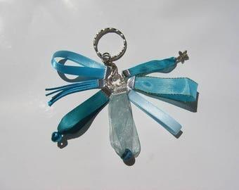 Bohemian Keychain in blue tone