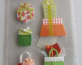 STICKERS in relief-themed bags and packages gifts REF. 2160