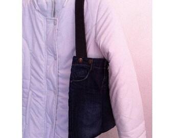 With small handles handbag by BAGART jean bag jean