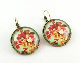 Lever back earrings # fresh spring # large