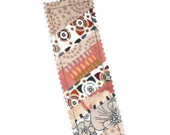 Beige and Brown patchwork 1 bookmark