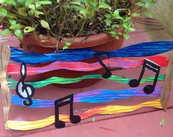 The Colors of Music Recycled Metal Wall Hanging | Free Shipping