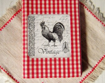 Notebook, protects -, print of a rooster