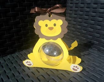 Box dragees theme here jungle lion box + ball plexi