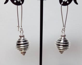 Spiral hematite earrings