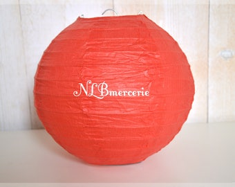 Candle diameter red rice paper lantern, Chinese ball 40 cm