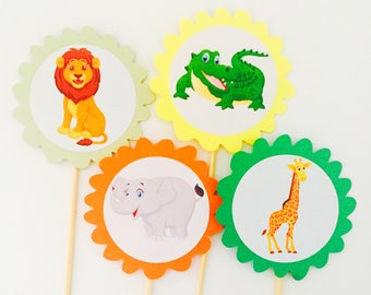 Kids Safari Cupcake Topper
