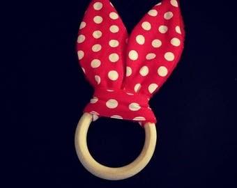 Teething ring see red dot