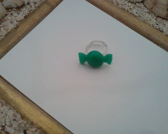 Candy green jade ring
