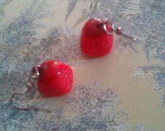 Pretty earrings 100% sweet bombon Strawberry TAGADA