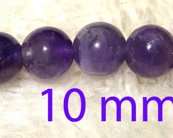 Amethyst 10 mm 6 beads ideal for creating