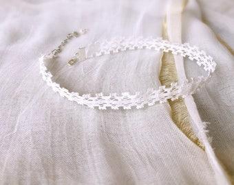 White 1/2 cm wedding Gothic lace Choker