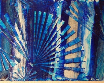 Acrylic painting on canvas - offered FPorts coil