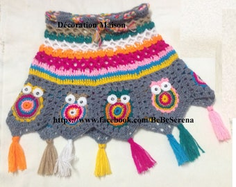 Child 0-2 years Granny multicolor crochet skirt