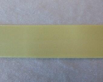 Satin ribbon, double-sided, yellow banana (S-217)