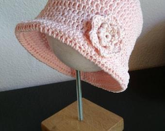 Handmade crochet baby cloche Hat