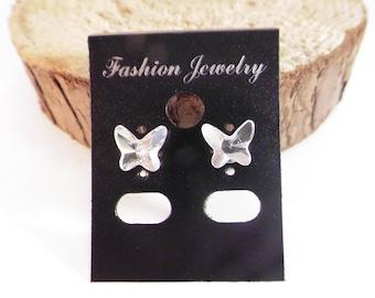 Butterfly crystal earrings