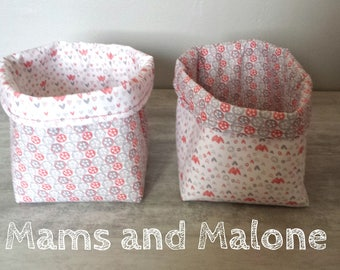 Two beautiful baskets / bins diaper or storage for baby